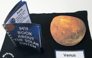 Use this beautiful, realistic solar system book to teach your students interesting facts and information about our planets, Pluto, the Sun, and the moon! #solarsystem #spaceactivities #montessori