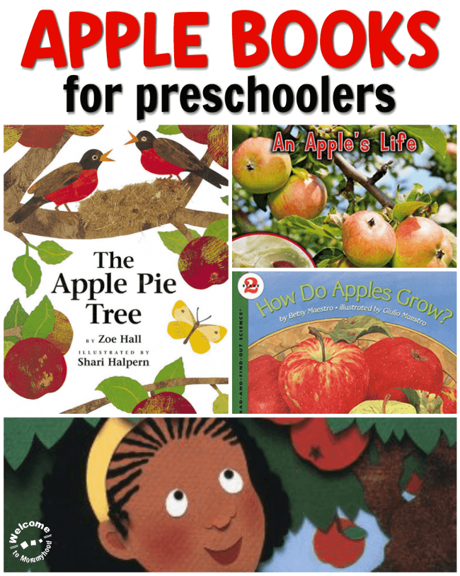 Use these wonderful apple books to add to fall reading lists! Your students will enjoy these beautifully illustrated books! Perfect for a Montessori class. #applebooks #appletheme #montessori