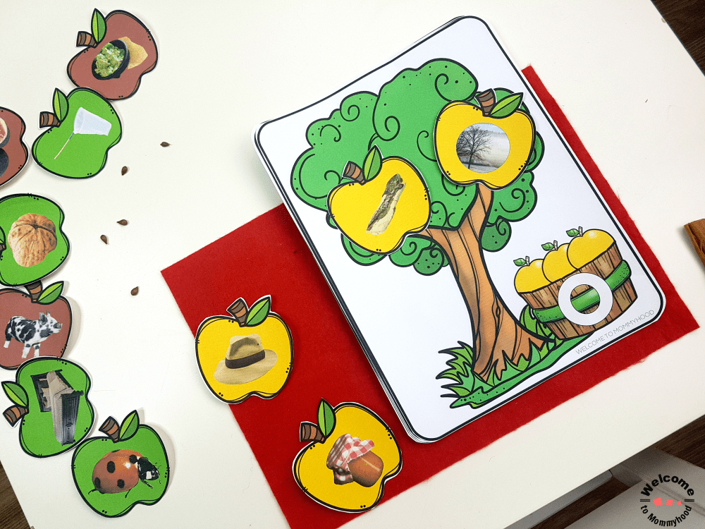 Use these fun apple activities for kindergarten to practice literacy activities and cvc words! Your students will have so much fun! #appleactivitiesforkindergarten #kidsactivities