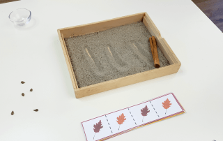 Use these Fall Ideas for Preschool to create awesome tracing and cutting activities for preschoolers! Perfect for fall activities in a Montessori classroom!