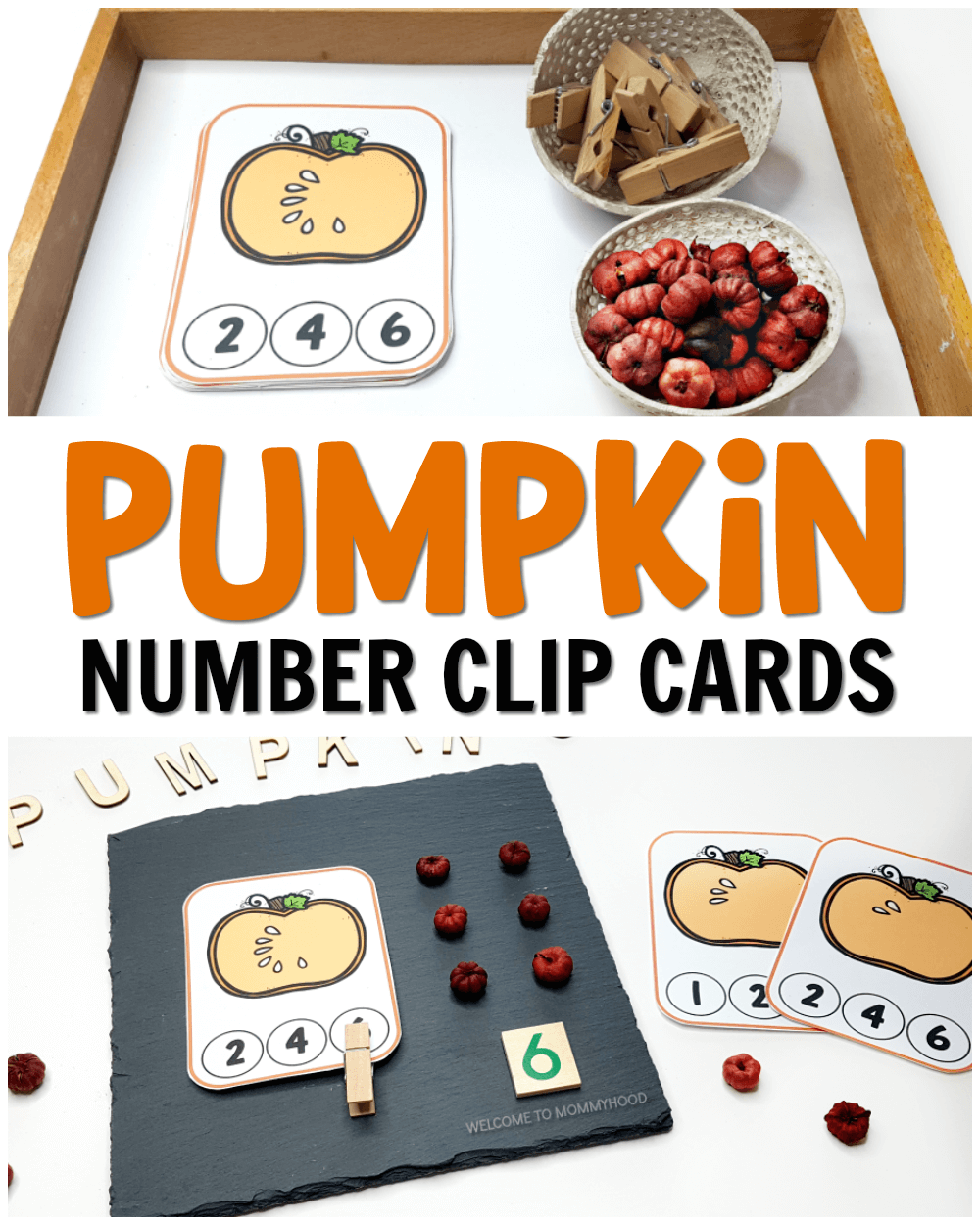 Use these pumpkin number clip cards to create fun and engaging counting activities for your preschoolers this fall! Perfect for Halloween and Thanksgiving activities!