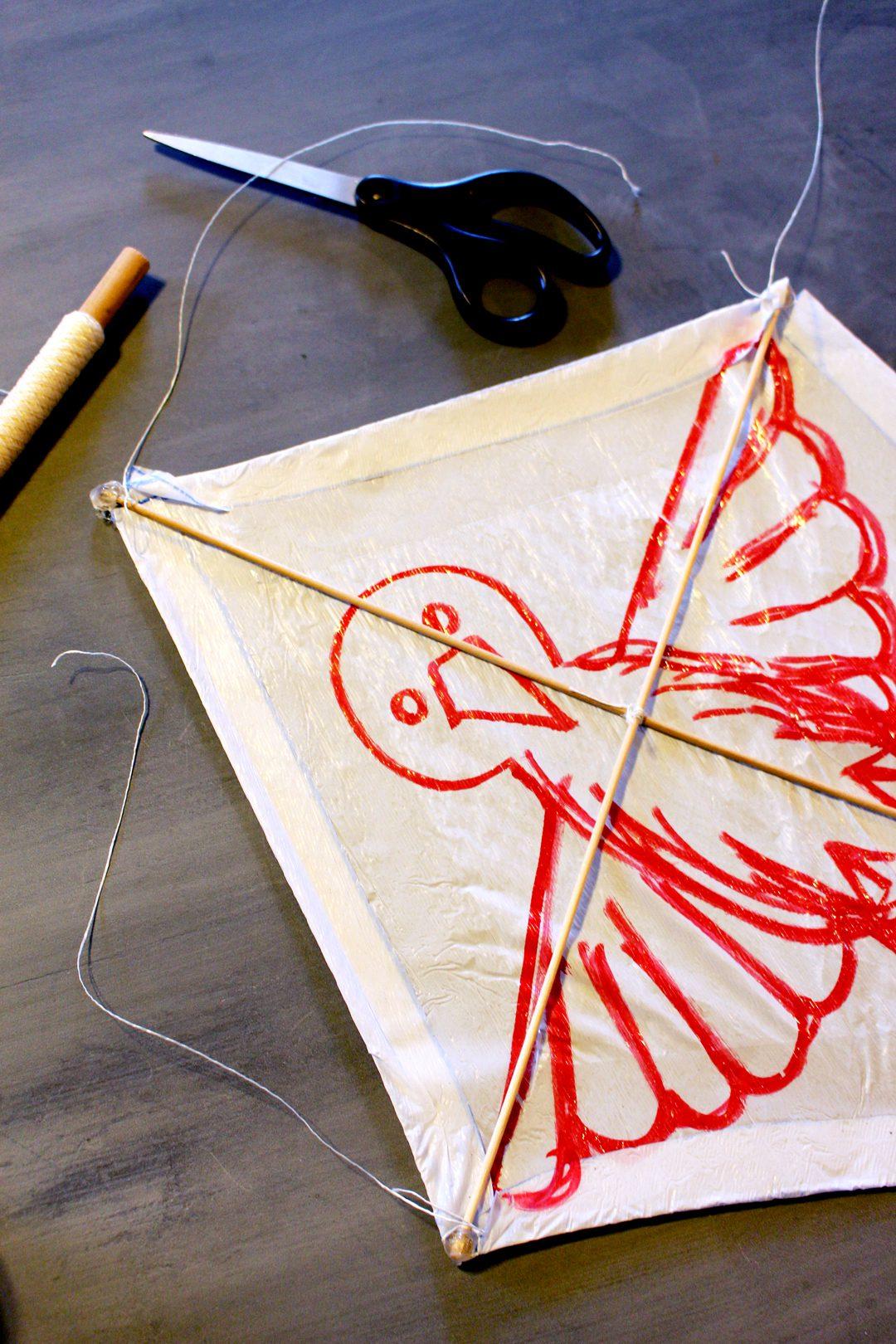 Make Your Own Diamond Shaped Kite