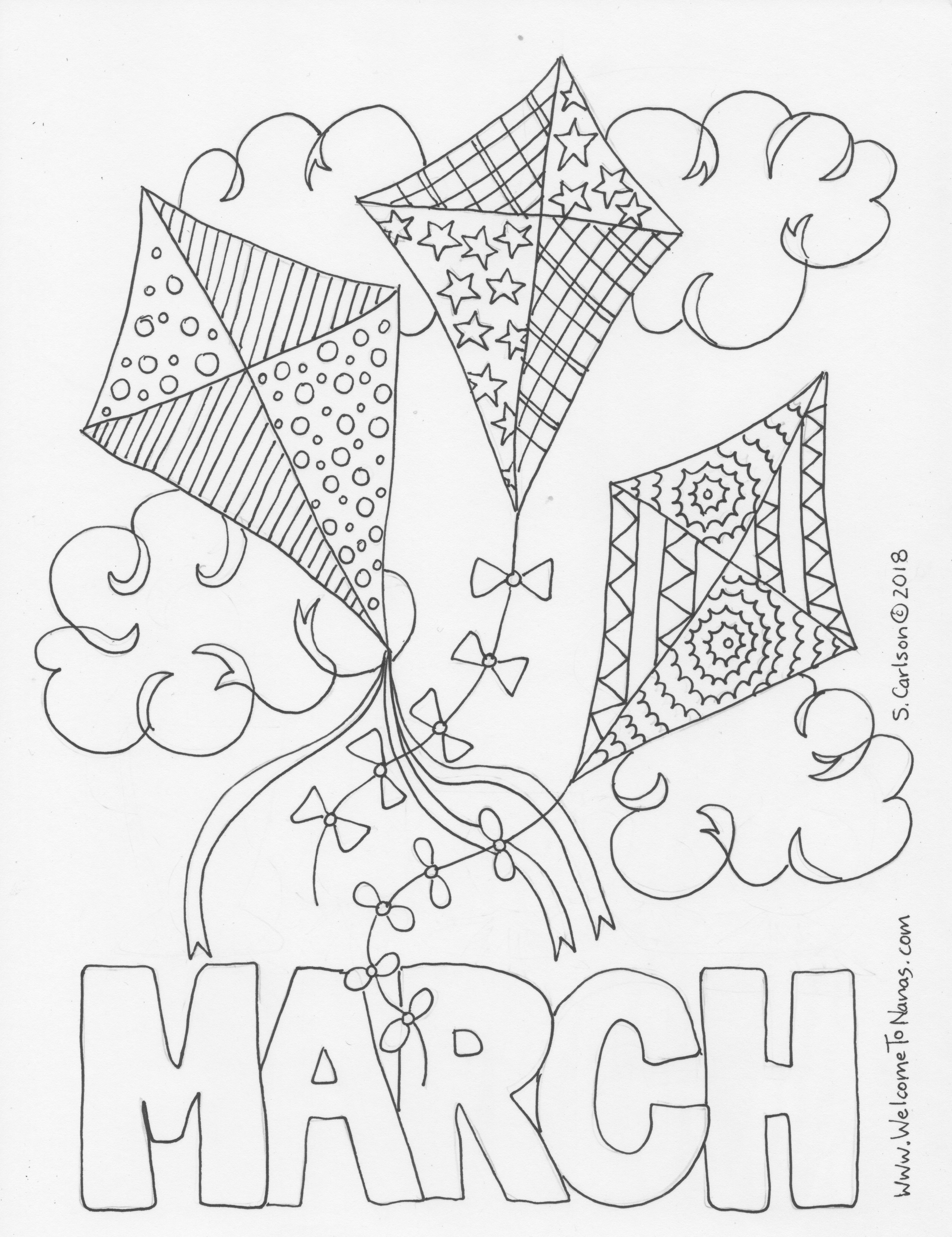 Month Of March Pages Coloring Pages