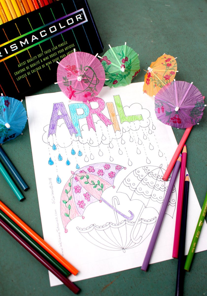 april showers coloring page  welcome to nana's