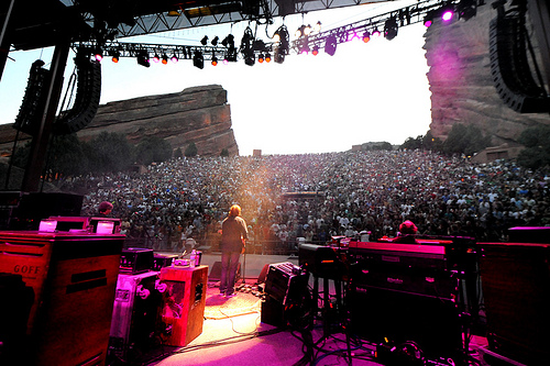 View from the stage - 8/1/09