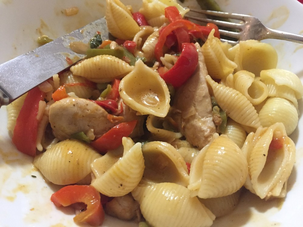 5. Chicken, coconut, peanut, pepper pasta