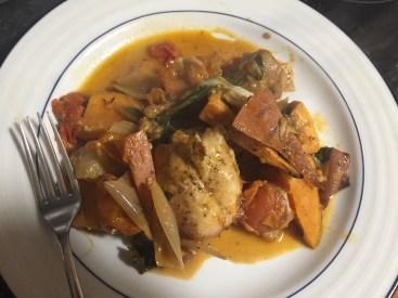 Chicken, veg and mozzarella bake
