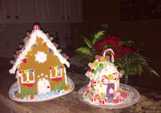 Nat made the big house at home with Marm & the little house at school