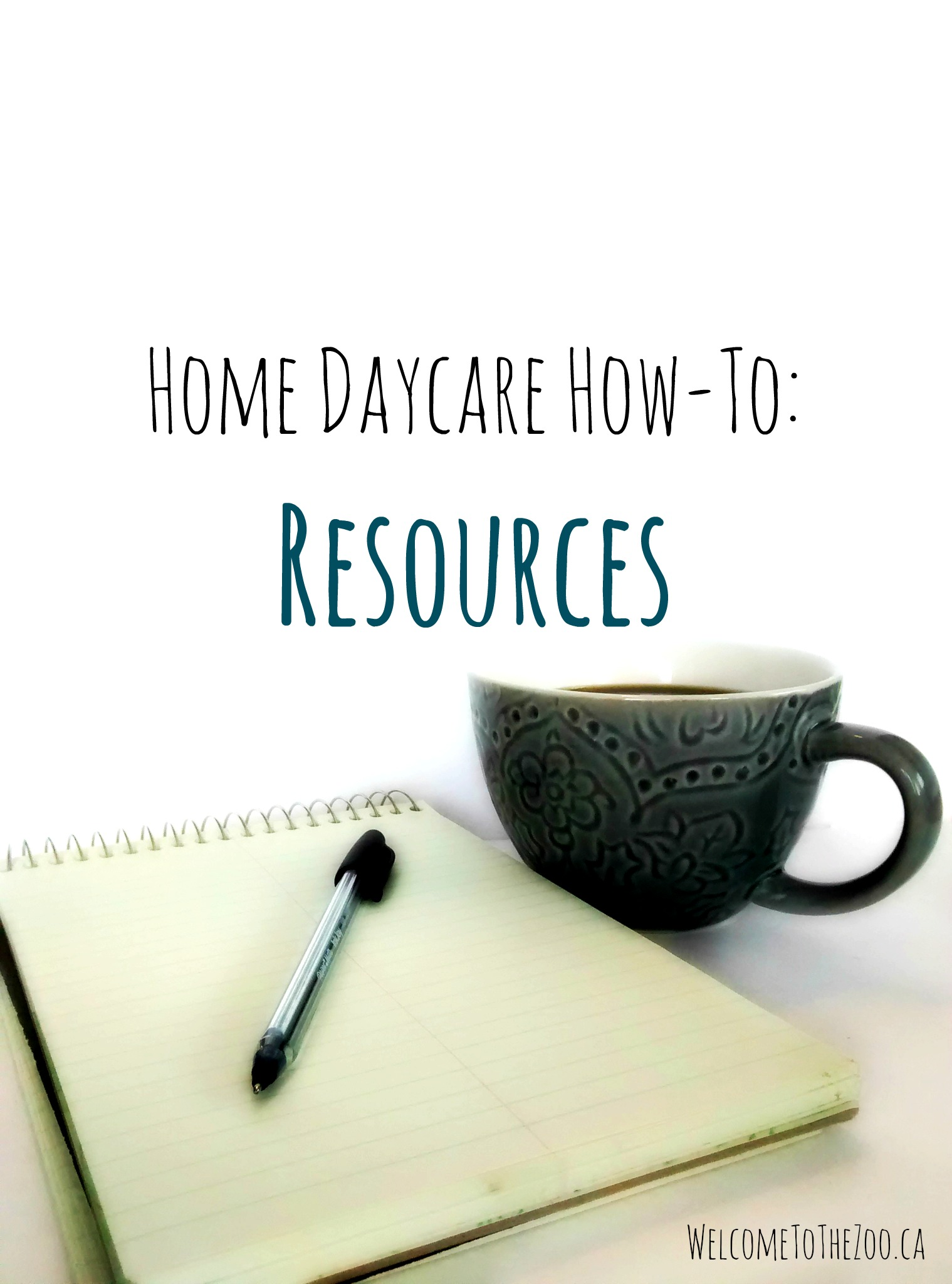 Resources and printables for home daycare