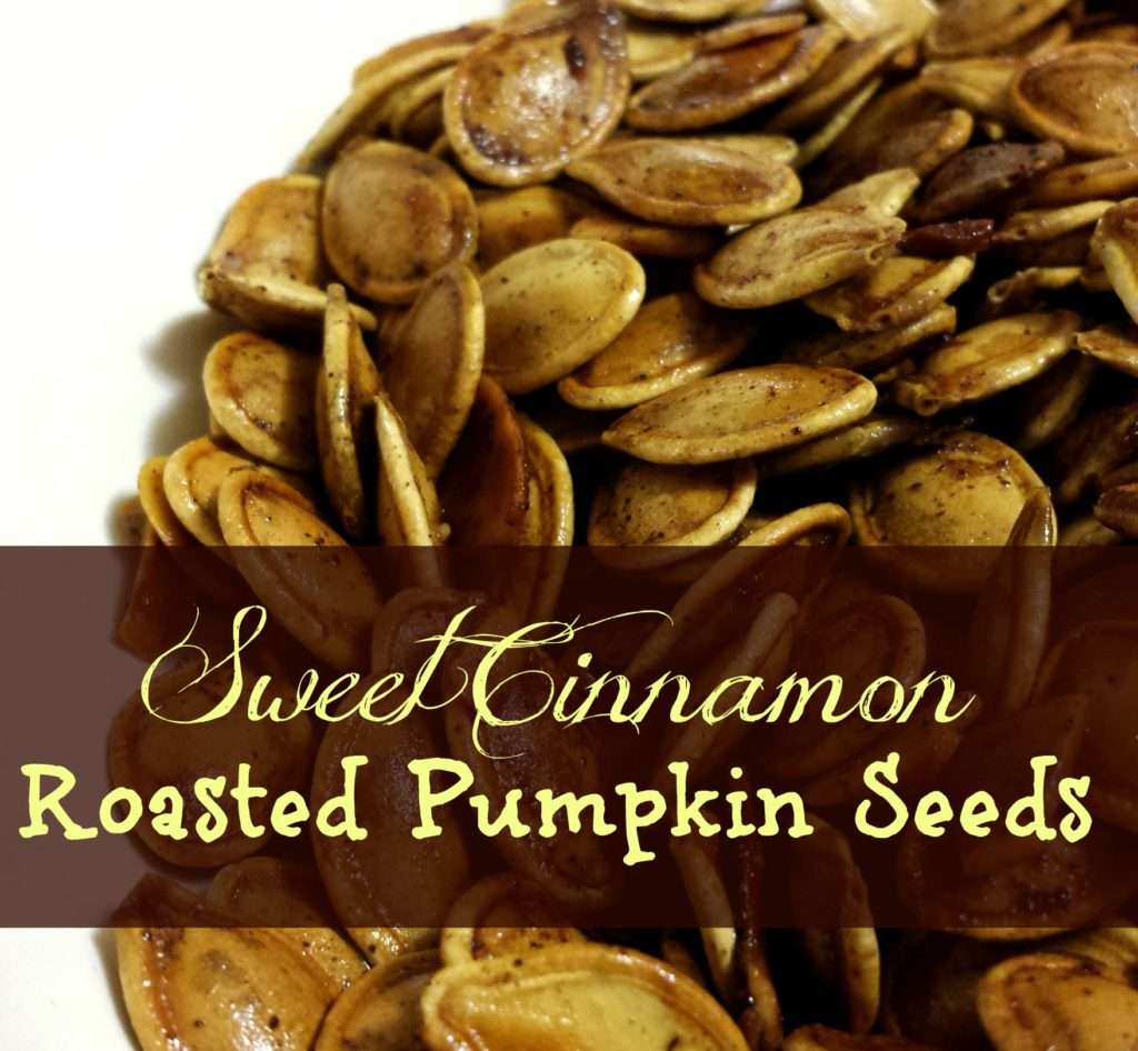 Sweet Cinnamon Roasted Pumpkin Seeds with Almonds