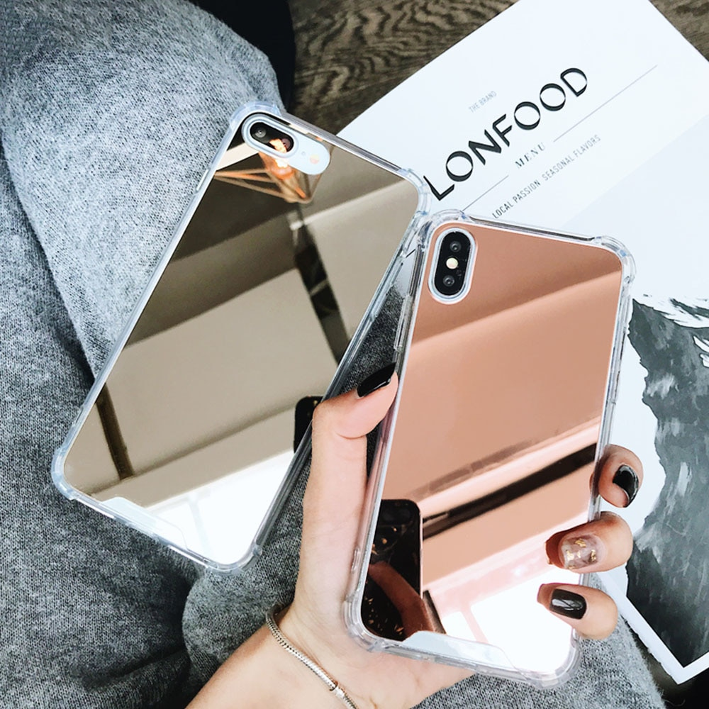 brand new 37233 4fda0 Luxury Plated Mirror Phone Case Cover For iPhone – Welcome To Your Twenties