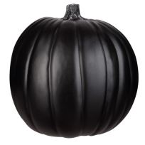 9 inch black craft pumpkin