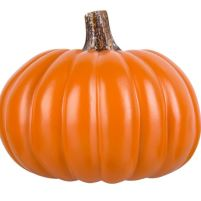 9 inch flat orange craft pumpkin