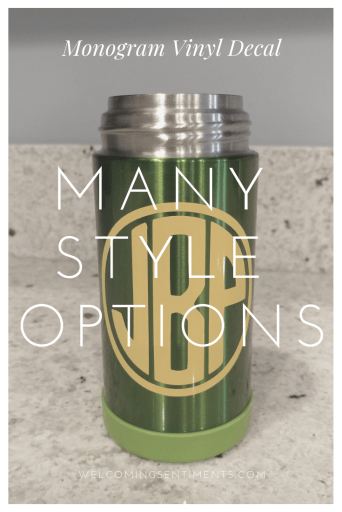 Monogram Thermos, Yeti, coffee mug, wine glass, beer mug
