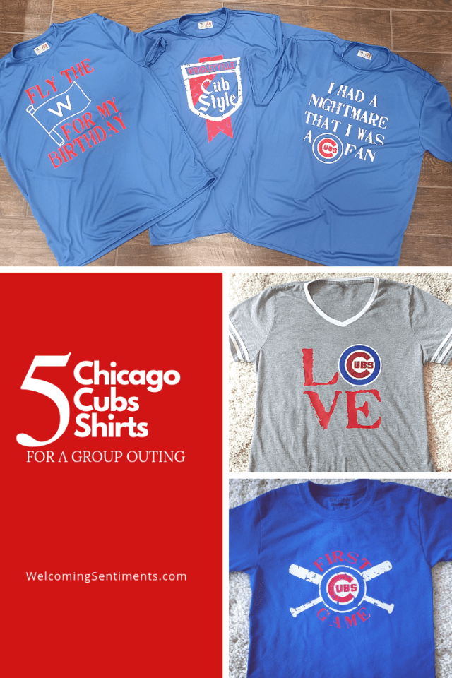 5 Custom Chicago Cubs shirts for a group outing