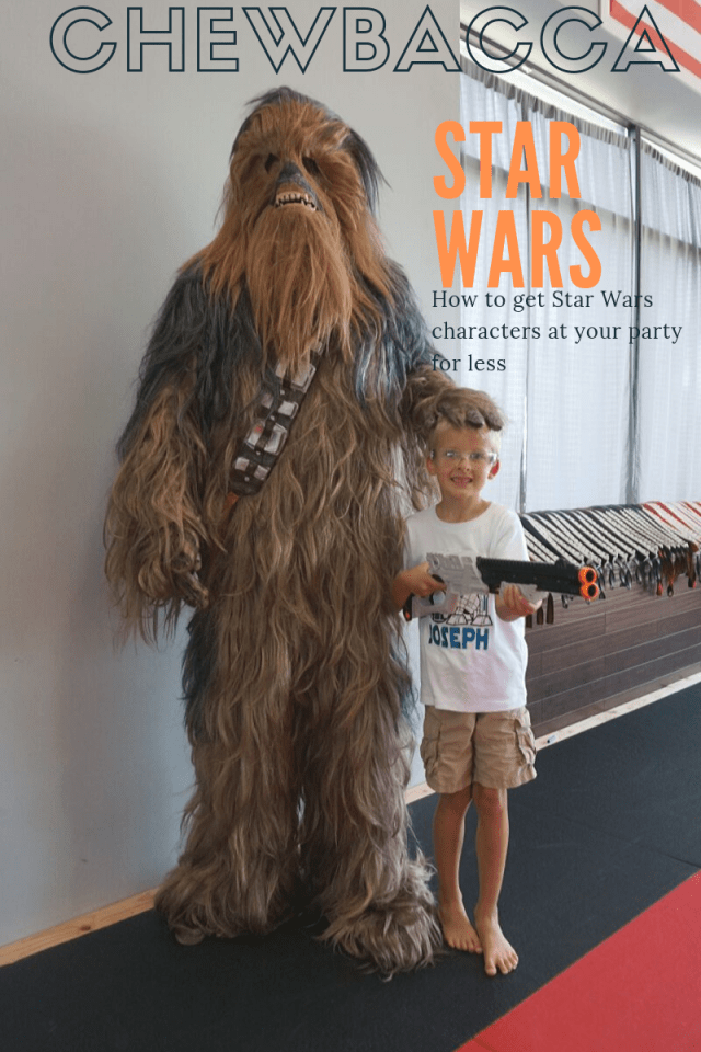 Chewbacca costume rental for a Star Wars birthday party