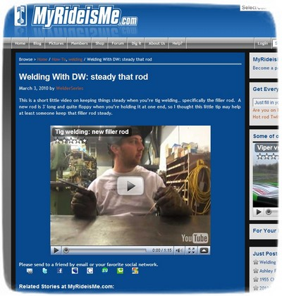 Welding With DW: steady that TIG rod