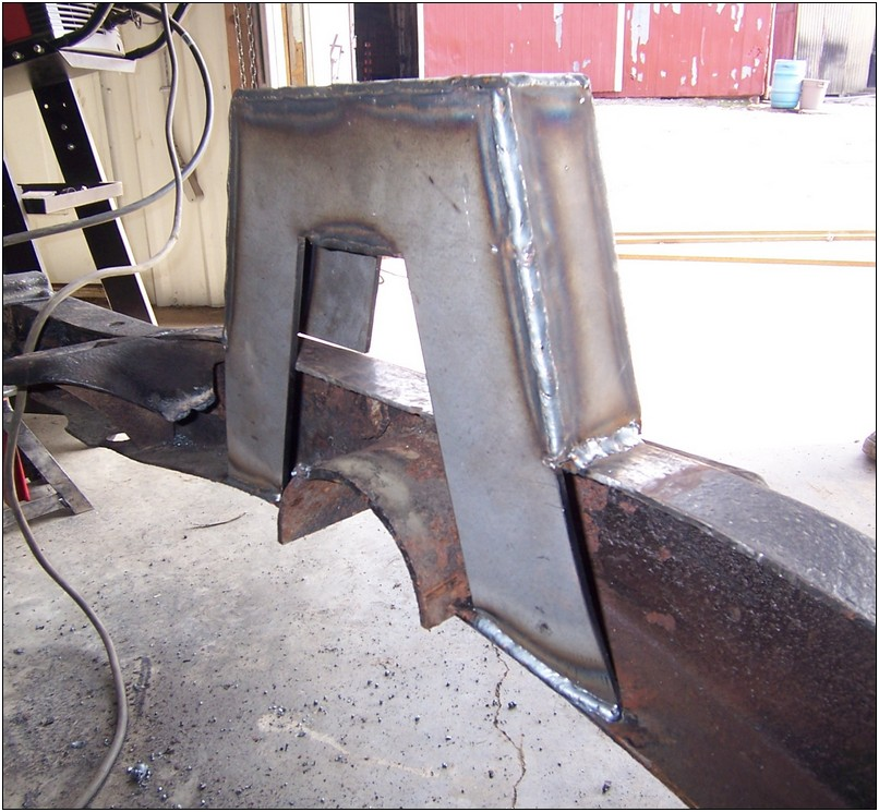You can bend the legs to get a better weld on the lower flange.