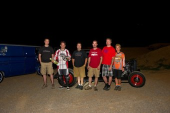 The Hot Rod BMX group, missing the boys from Star Kustom Shop.