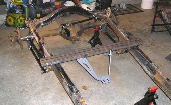 Model A four link, modified Panhard kit, 2115 Transmission Mount