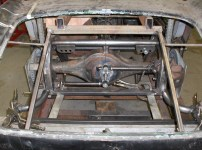 Healey with Welder Series sway bar, frame curves, and various brackets etc.