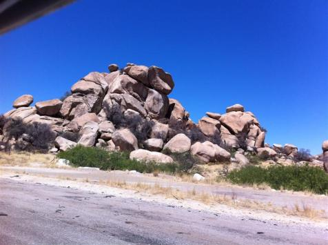 Miles of huge rock piles. So very different than the Tennessee Smokies.