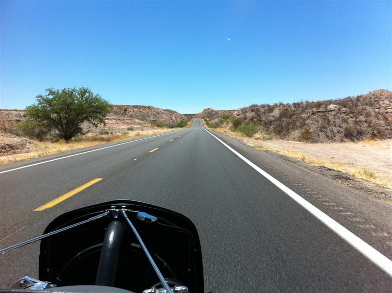 Approaching Tombstone AZ - home of the famous Gunfight at the OK Corral.