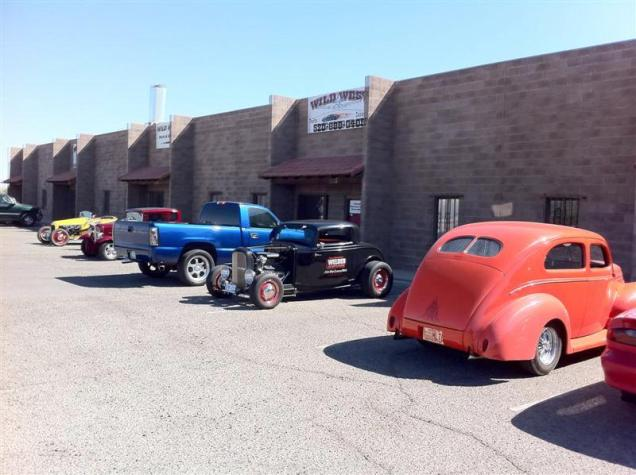 Paul and I veered away from the Road Tour group this morning because of a couple of other commitments we had. We made a brief stop at Wild West Rods in Tucson.