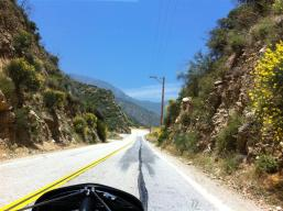 Curvy mountain roads - lots of areas to pull partly off the road to let the non-sightseers pass.