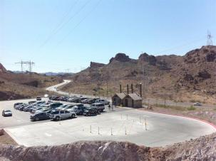 Power parking at Hoover Dam. I'm sure this was good for business.