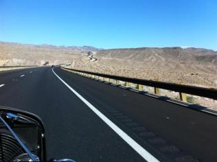 Scenery driving in Arizona - heading for Kingman AZ.
