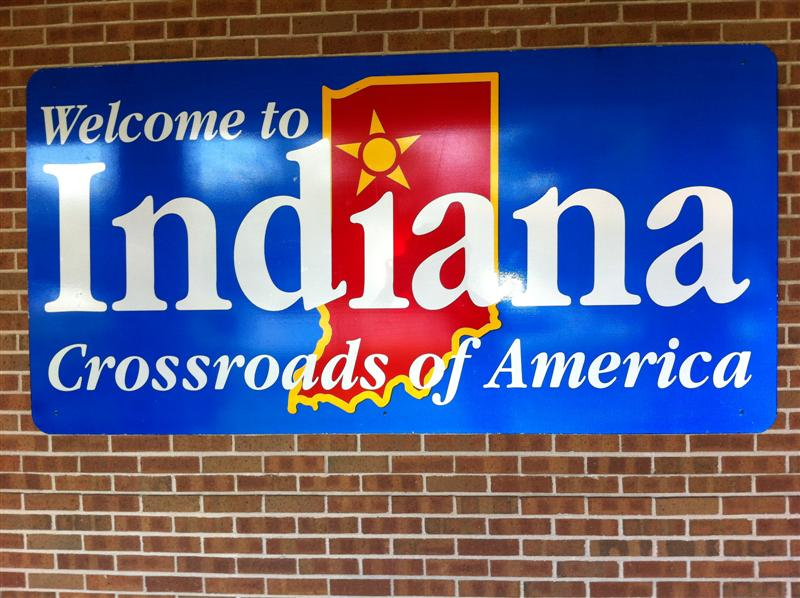Welcome to Indiana - the place of Dorothy's birth. Dorothy grew up in Sellersburg IN, just north of Louisville KY.