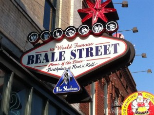 Beale Street in Memphis - home of the blues and lots of activity on a Tuesday afternoon