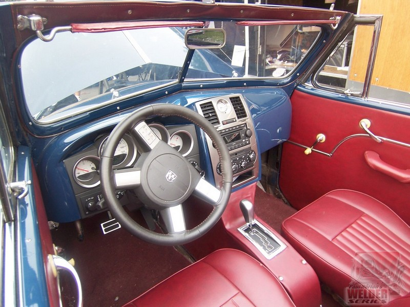 A late model dash can be modified to fit in a hot rod.