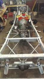 Custom four link and front three link. Welder Series master cylinder bracket.