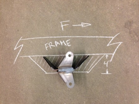 Adding a 2x4 tube to the bottom of your rails will give you a nice spot to mount your frame bracket on a not-so-low ride height.