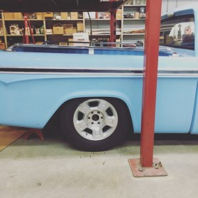 """Paul's 17"""" winter wheels were used as mock ups. They have an OD of 29""""."""