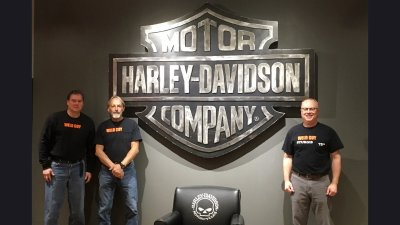 Harley-Davidson Bar & Shield in Lobby