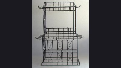 Johnson Controls - Pagoda Sculpture to hold large monitor - 6ft tall