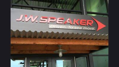 J.W. Speaker - sign at front door