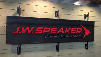 J.W. Speaker - sign at front desk lobby