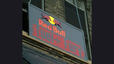 Red Bull -Sign at event