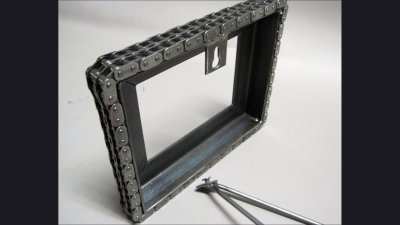 Frame with back hanger / stand