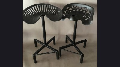 Tractor Seat Stools - 24 in seat height
