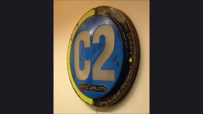 C2 Sign - 30 in diameter, lighted