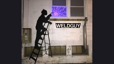 Weld Guy Sign 8 ft tall