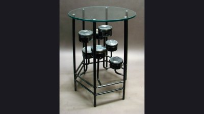 Harley Piston Table - 24 in Diameter