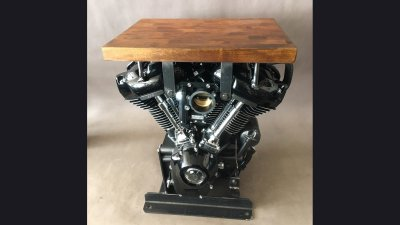 Harley Motor Table 24 in tall