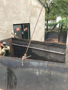 Steel Planter installation, Welding Shop