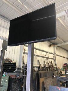 Custom TV Stand-Welding Shop Austin, Texas